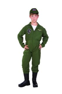 TOP GUN AIR FORCE PILOT CHILD BOY COSTUMES MILITARY KIDS UNIFORM 90263