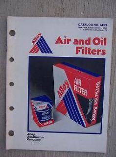 1961   1976 Alloy Automotive Air Oil Filter Catalog Auto Truck Cross
