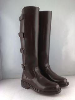 MEN POLO HORSE RIDING BIKER LEATHER RIDING TALL BOOT ALL US SIZES