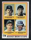 1978 Topps Paul Molitor Alan Trammell Rookie #707 NM+