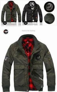 Mens US Air Force Military Flight Jacket Coat Parka Uniform Overcoat