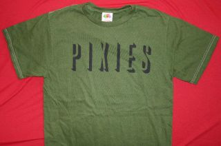 PIXIES 2004 Sell Out Tour Green T Shirt **NEW the music concert band