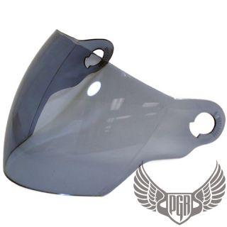 Smoke Shield Visor PGR Helmet Open Face Jet Pilot 202