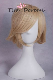 SOUL EATER Patty Short Pale Blonde Cosplay Wig costume short party