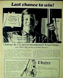1968 Boys Daisy B B Pump Gun Air Training Rifle Toy AD