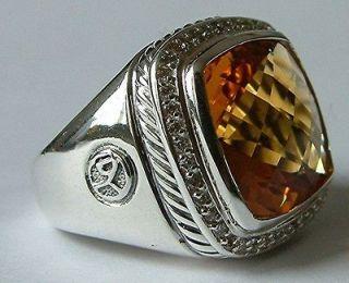 Newly listed David Yurman 925 15mm Albion Yellow Citrine Diamond Ring
