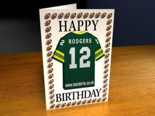 GREEN BAY PACKERS NFL BIRTHDAY CARD   PERSONALISE
