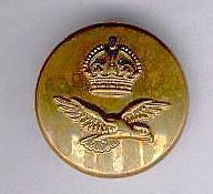 BRITISH ROYAL AIR FORCE DRESS OFFICERS TUNIC UNIFORM BUTTON KGV1 WW2