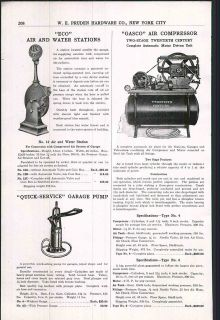 1922 ad Eco Air Water Garage Pumps Gasco Air Compressor Twentieth