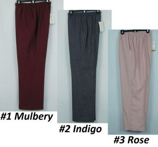 Alfred Dunner Pull On Mulberry Street Womens Pants Reg, Plus, Petites