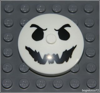 Lego Monster Fighters Glow in Dark Evil Ghost Face Logo ★ Dish 4x4