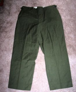 NEW OD Green ARMY Military M1951 Wool Field Pants Hunting Zipper fly