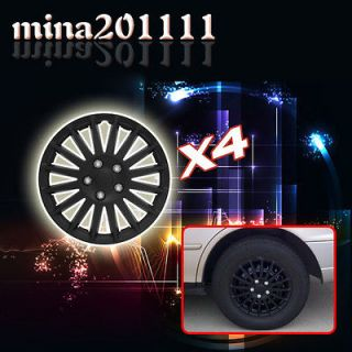 Set of 4 16 All Black Wheel Covers Center Hub Caps Rim Tires