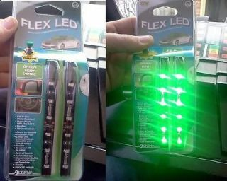 Alpena Flex LED Green 2 Strip Light Knight Rider Gas Pedal KITT Trans