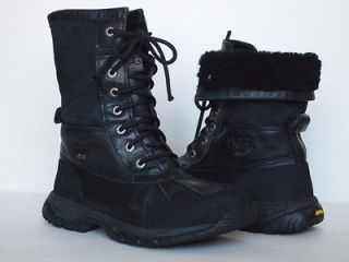 UGG AUSTRALIA Butte Boots BIG KIDS 5 BLACK Short Leather Classic