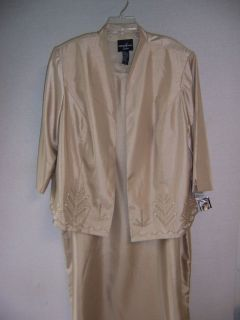 POSITIVE ATTITUDE Beige Mother of Bride Lined Cocktail Dress & Jacket