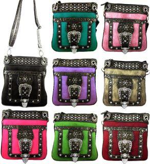 Western Cowgirl Rhinestone Belt Crossbody Messenger Bag Purse 8 Color