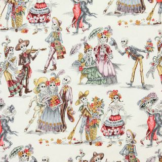 of the Dead Paseo De Los Muertos Natural Fat Quarter Alexander Henry