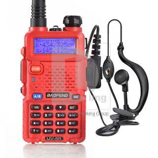 BAOFENG Red Handheld Transceiver UV 5R UHF+VHF Dual Band/Watch Radio