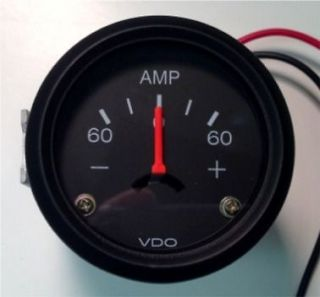 New 60A Ampere Current or AMP gauge, VDO type, 2/52mm