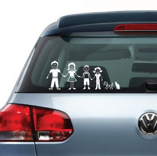 Family Figures Vinyl Decal Sticker Clings for Car Truck Van Vehicle
