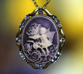 Newly listed Cuty Big Rose Fairy Angel Stunning Cameo Pins Brooches