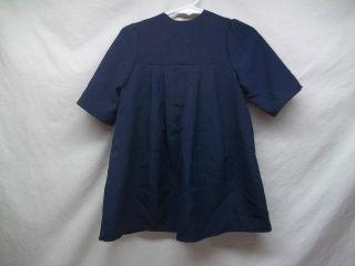 Authentic Amish Baby Toddler Girls Dark Navy Blue Dress Clothing