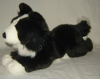 Animal Alley Border Collie Puppy Dog Black White 10 Plush Stuffed Toy