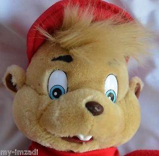 & CHIPMUNKS ~ ALVIN ~ Vintage 1993 Big 16 Plush Stuffed Puppet Toy