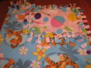 No Sew Large Reversable Double Fleece Tigger Baby/Toddler Blanket