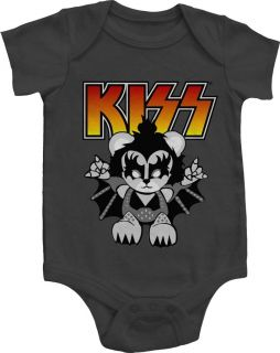 NEW Boy Girl Infant Baby KISS Band Logo One Piece Snapsuit Jumper T