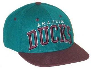 ANAHEIM DUCKS NHL HOCKEY VINTAGE TEAL SUPER STAR SNAPBACK HAT/CAP NEW