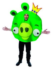 Green King Pig Angry Birds Adult Halloween Costume