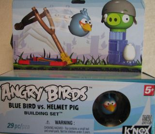 Brand New KNex Angry Birds Blue Bird vs Helmet Pig Building Set 29