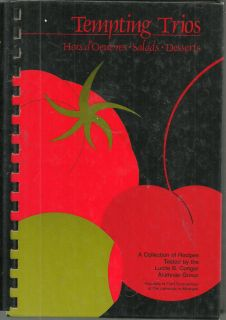 ANN ARBOR MI 1988 TEMPTING TRIOS COOK BOOK *UNIVERSITY OF MICHIGAN