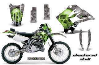 AMR RACING MOTOCROSS GRAPHIC WRAPS DECAL MX KIT KAWASAKI KDX 200 220