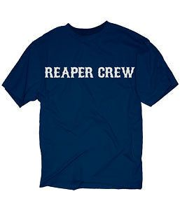 Sons Of Anarchy SOA Reaper Crew Logo T Shirt   BLACK
