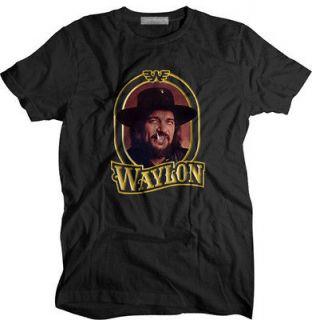 New January Waylon Jennings country Music Vintage type T shirt size S