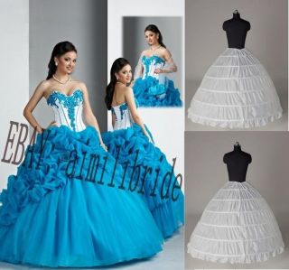 Blue Quinceanera Dress Wedding Formal Prom Ball Gown Evening Dress
