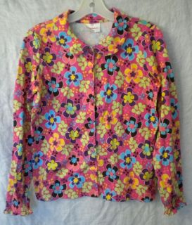 HANNA ANDERSSON Girls Berry Bloom Peter Pan Poets Blouse Shirt Top