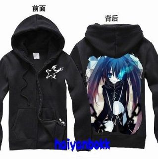 Anime Black Rock Shooter BRS Clothing Hooded Sweatshirt Cosplay Hoodie