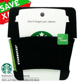 star417 starbucks coffee holder green Reusable cup tumbler sleeve NEW