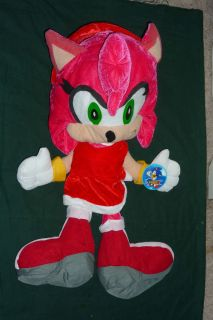 RARE 21 Plush Amy Rose Figure from Sonic The Hedgehogs Sonic X New