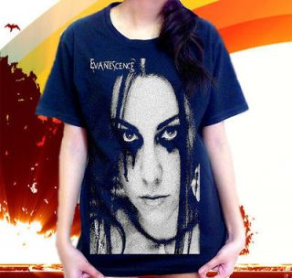 Amy Lee Face Evanescence Metal Rock Band Blink 182 Emo T SHIRT Sz.S,M