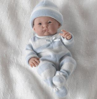 JC TOYS 18452 9.5 in. Mini La Newborn Doll Real Boy