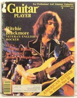 GUITAR PLAYER MAGAZINE RITCHIE BLACKMORE DEEP PURPLE ED BICKERT JIMMY