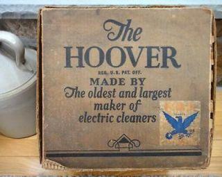 vintage HOOVER VACUUM CLEANER delivery case ORIG BOX NRA
