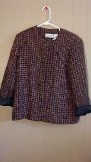 Vintage* Alfred Dunner brand Multi color Womens Blazer Size 14P