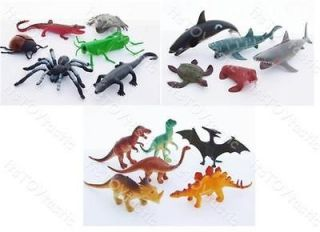 Plastic Animal Figure sets Sea Creatures Insects Reptiles Dinosaurs