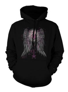 Angel Wings Heart Lock Cool Tattoo Trendy Nice Hoodie